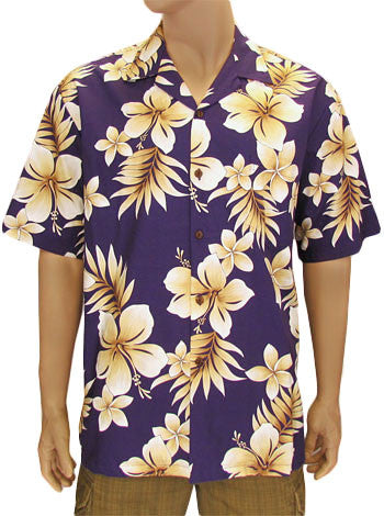 Men Tropical Shirt - Pualoalo Print