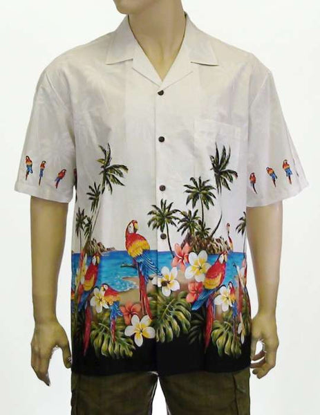 Parrots Beach Party Surf Shirt