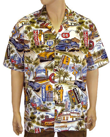 Aloha Shirt for Men - Route 66 Printed