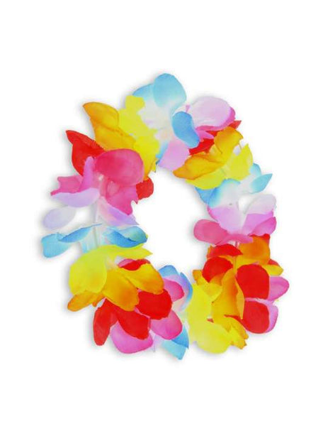 Ponytail Hairstyle Holder - Tiny Plumeria Rainbow Flower