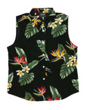 Birds of Paradise - Hawaiian Sleeveless Women's Blouse