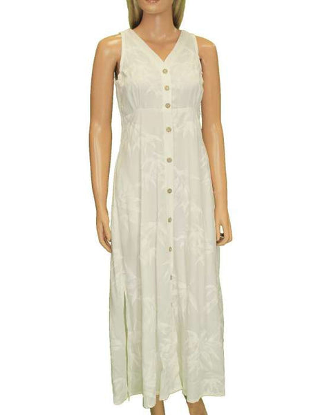 White Long Maxi Rayon Dress - Bamboo