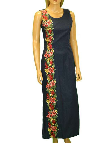 Maxi Long Tank Aloha Dress Border Design - Manele
