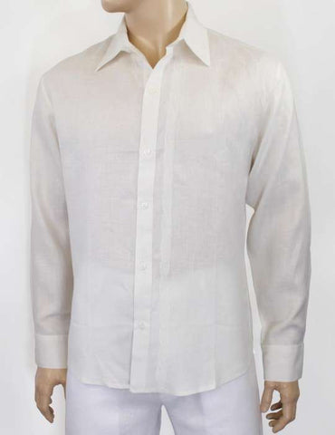 Linen Guayabera Shirt Tone Embroidered