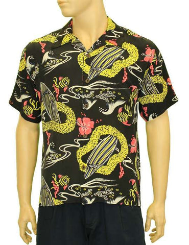 Waves Vintage Design Hawaii Aloha Shirt