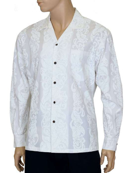 Aloha Shirt Long Sleeves Pilialoha Anthuriums