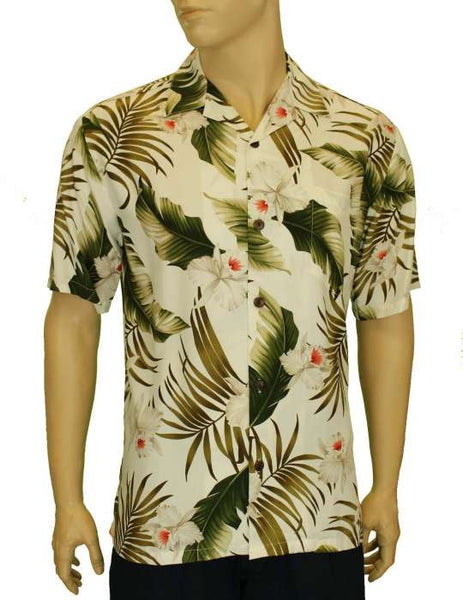Rayon Hawaiian Shirt - Orchids Creation Resort