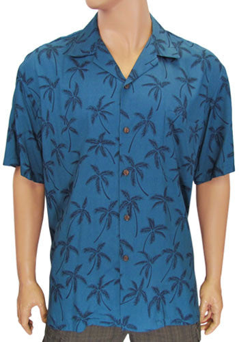 Rayon Aloha Palm Shirt for Men