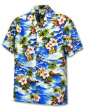 Hawaiian Men's Shirt - Hookipa Hibiscus Flower
