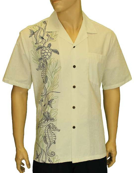 Hawaiian Shirt - Single Panel Ocean Treasures