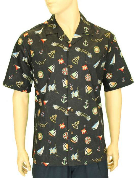 Aloha Shirt - Ocean Sailor's Design