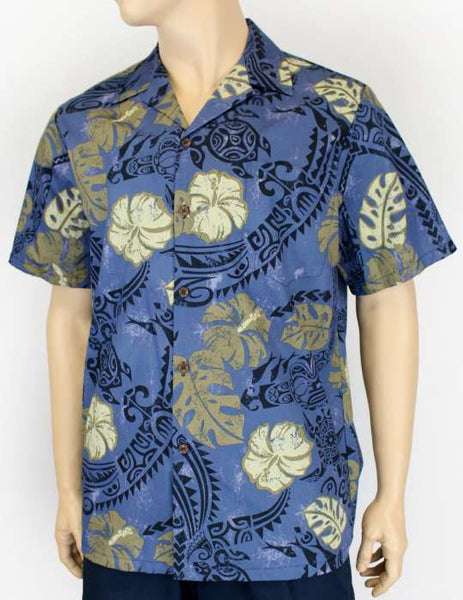 Hawaiian Print Shirt - Polynesian Tattoo