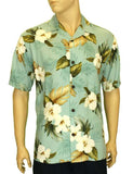Rayon Hawaiian Shirt Print Hibiscus - Jungle Design