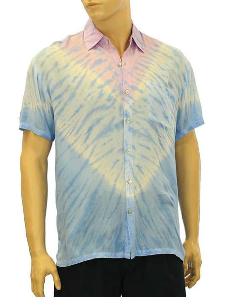 Rayon Shirt - Tie Dye - Tropical Shadow Lilac Waapa