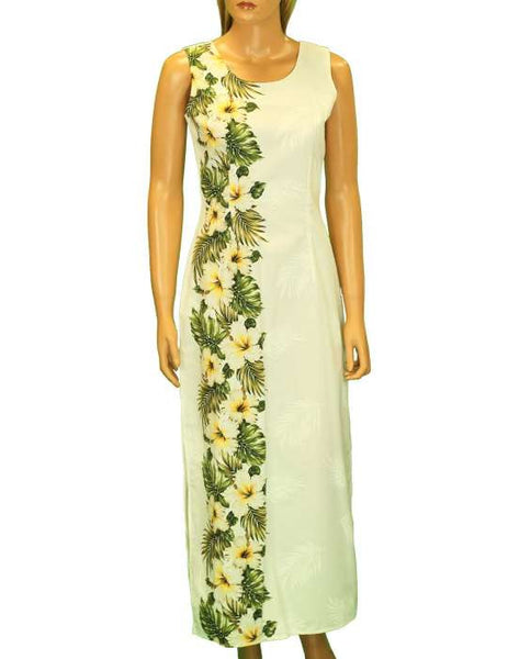 Long Maxi Tank Side Band Hawaiian Dress - Island Spring