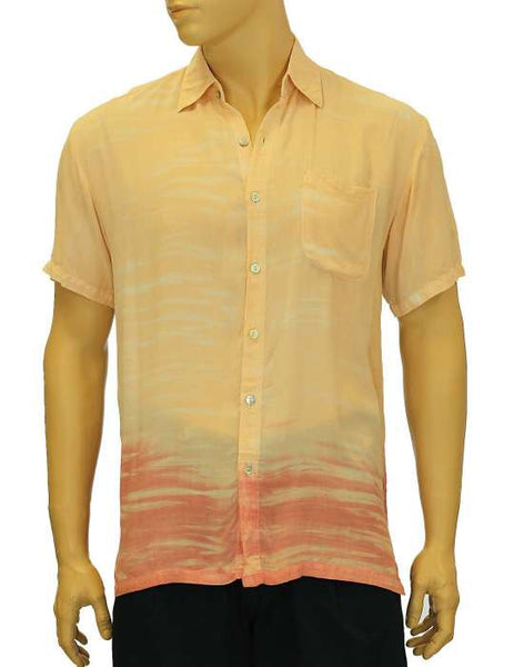Rayon Hawaiian Shirt - Tie Dye - Tropical Shadow Lawai Coral
