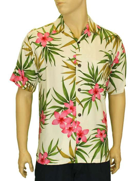 Rayon Hawaii Shirt - Plumeria Rain