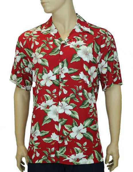 Rayon Aloha Shirt - Tropical Hibiscus
