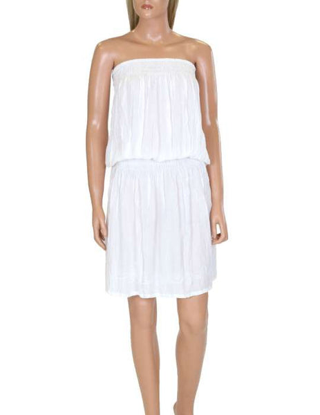 One Piece White Dress - Beach Cover-up Strapless - Makana
