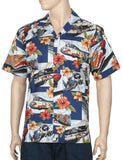 Airplanes Aloha Shirt Code-Sign Mustang