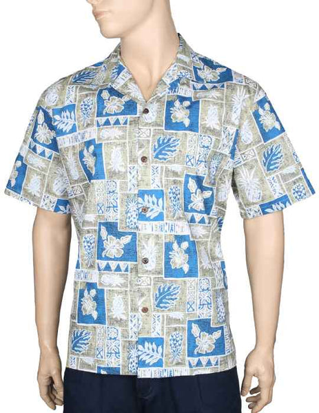 Pineapple Block Hawaiian Shirt