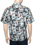 Vintage Aloha Shirt Classic Hawaii Newspaper