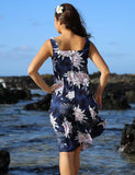 Women Hawaiian Sundress - Tropic Night Blooming