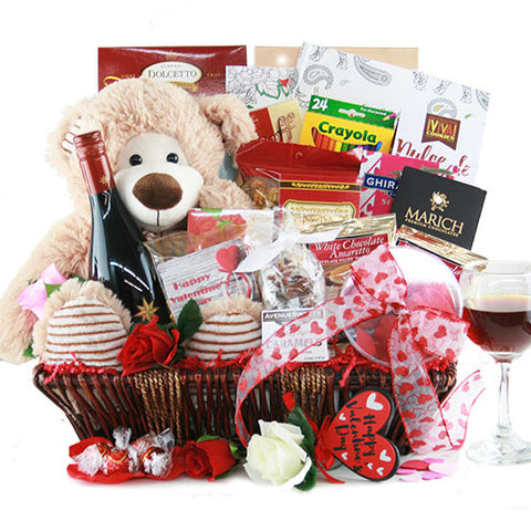 Sweet On You Valentines Gift Basket