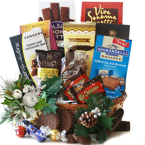 Christmas Chocolate Classic Christmas Gift Basket