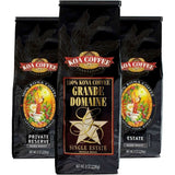 Koa Coffee - Dark Roast Whole Bean Kona Coffee Tri-Pack