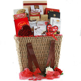 Love is in the Air Valentine Gift Basket