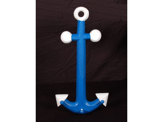 "Anchor Hanger - 22"" Blue and White - Coastal Decor"