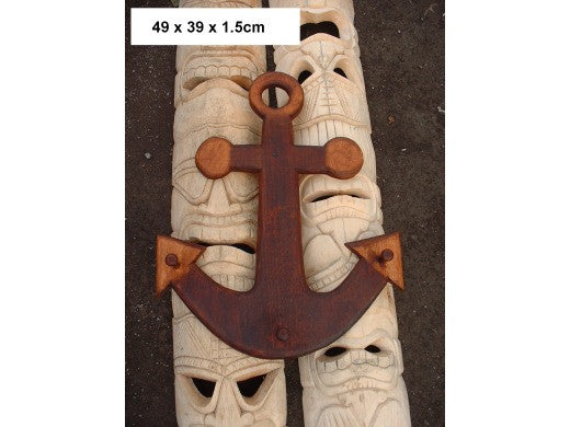"Anchor Hanger - 20"" Antique Finish - Pirate Decor"