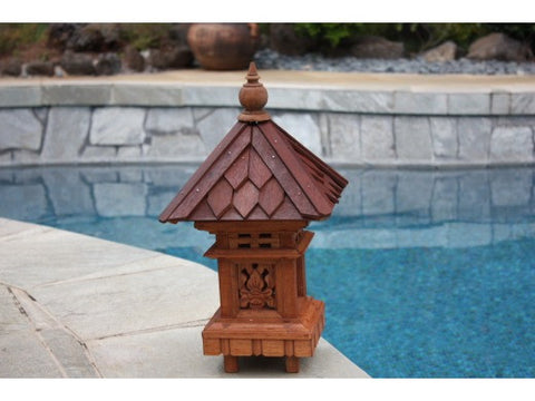 "Outdoor Lantern W/ Shingle Roof Top - 20"" Outdoor Light"