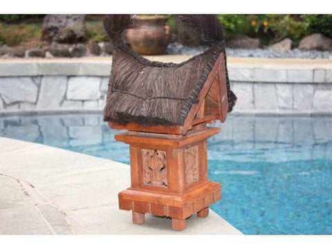 "Traditional Balinese Outdoor Lantern - 25"" Outdoor Light"