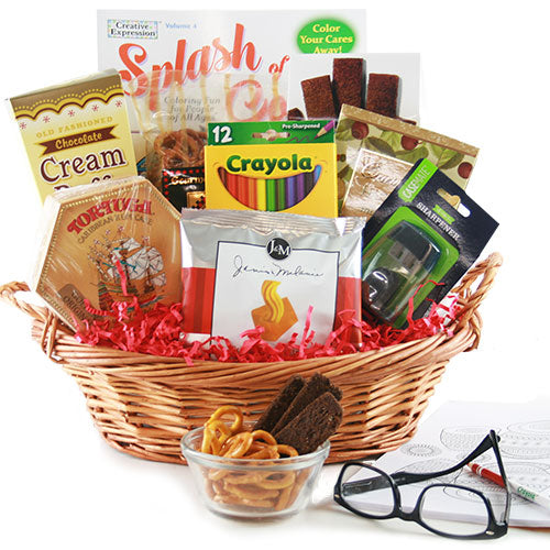 Splash of Color  Adult Coloring Book Gift Basket
