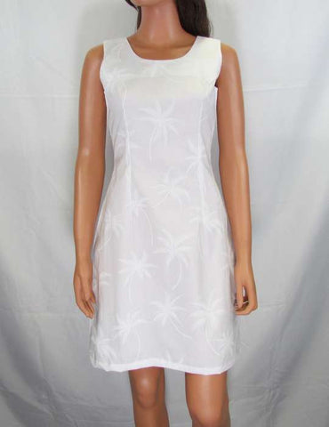Cotton Tank Style Short White Dress - Loulu