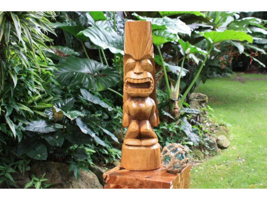 Love Tiki Totem 26 in Hand Carved | Hawaiian Outdoor Decor