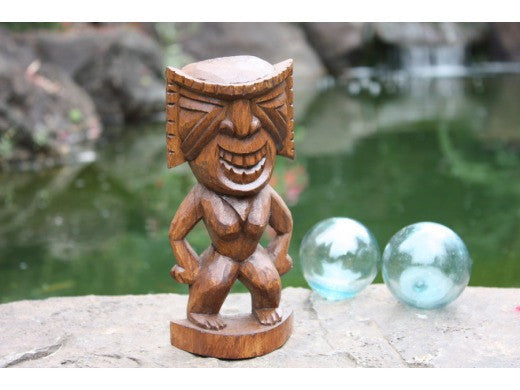 "Ku Tiki 8"" - Warrior Tiki - Hand Carved"