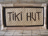"Bamboo Tiki Sign ""Tiki Hut"" - Tiki Bar Decor"
