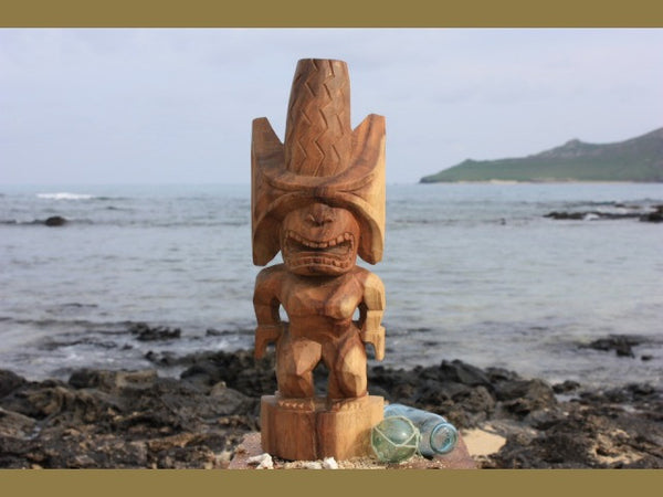 "God Ku Kona-Style Tiki 12"" - Natural - Hand Carved"