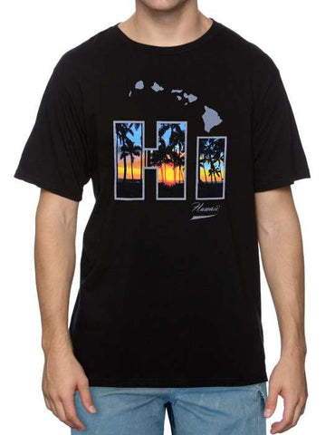 Cool Island T-Shirt Hawaii Sunset Photo