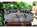 "Tiki Bar ""Group Therapy"" Happy Hour Sign 16"""