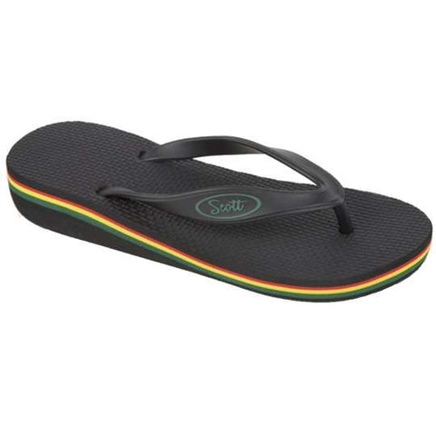 Olu Women Beach Sandals with Rainbow Heel