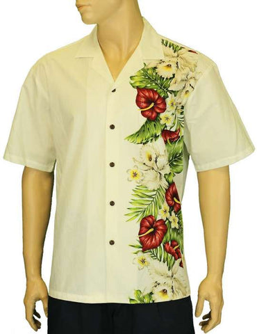 Alika Side Border Band Hawaiian Shirt