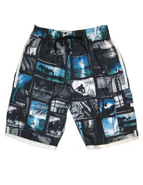 Men's Swim Trunks Board Shorts Surfer Pipe Line