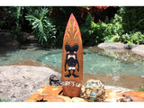 """Surf's Up"" Tiki Surfboard Sign - 20"" - Surf Decor"