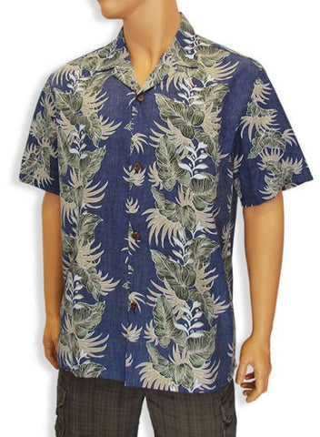 Aloha Lei Poly Cotton Hawaiian Shirt