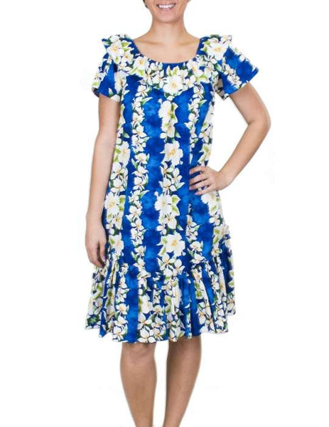 Short Muumuu Dress Luana Ruffle Bust Line and Hem