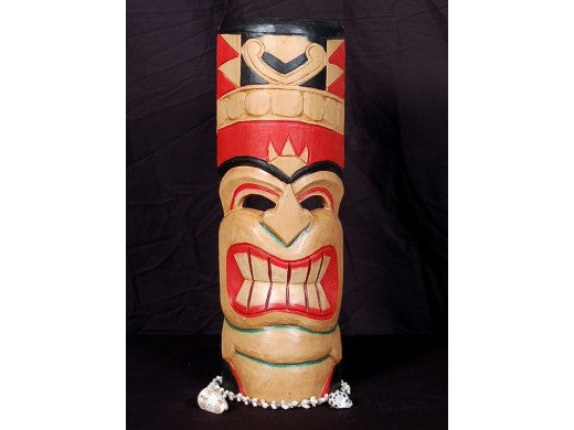 "Love Tiki Mask 20"" - Hand Carved & Painted"